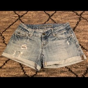 American Eagle Outfitters Shorts - Distressed Denim Roll Up Shorts, Size 2